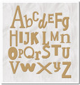 Mixed size and fonts English Alphabet wooden letters 90x90cm