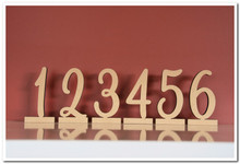 11cm tall wooden freestanding table numbers