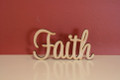 7cm tall Freestanding wooden word sign Faith
