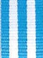 Blue and White Striped Ribbon