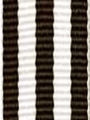 Brown and White Striped Ribbon
