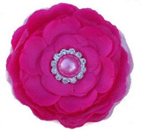 Silk Camellia Flowers - Hot Pink