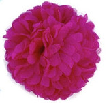 Chiffon flowers - Hot Pink
