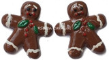 Gingerbread Men Flat Back Resins