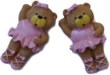 Ballerina Bear Flat Back Resins