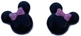 Mouse Pink Bow Flat Back Resins