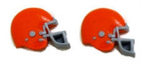 Football Helmet - Orange Flat Back Resins