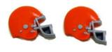 Football Helmet - Orange Flat Back Resins