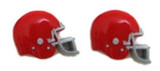 Football Helmet - Red Flat Back Resins