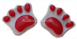 Red Paw Flat Back Resins