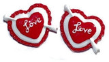 Love Heart Flat Back Resins