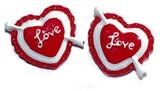 Love Heart Flat Back Resins