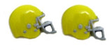 Football Helmet - Yellow Flat Back Resins