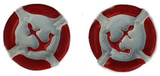 Red Anchor Flat Back Resins