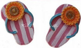 Flip Flops Sunflower Flat Back Resins