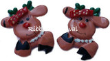 Reindeer Flat Back Resins