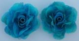 Rose Silk Flowers - Turquoise