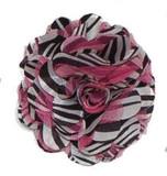 Rosette flowers - Hot Pink Zebra