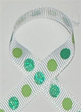 Glitter Polka Dot Ribbon Tropic Blue / Green