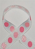 Glitter Polka Dot Ribbon | Glitter Ribbon | Lt Pink and Sherbet
