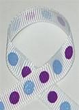Glitter Ribbon | Glitter Polka Dot Ribbon | Blue and Grape
