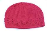 Crochet Kufi Hats - Hot Pink