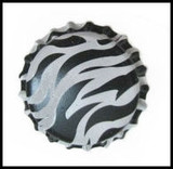 Zebra Bottle Caps