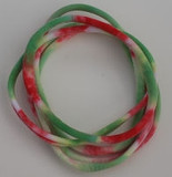 White, Red and Green Nylon Chokers