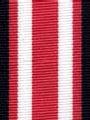 Navy and Geranium Preppy Stripe Ribbon