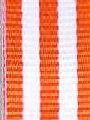 Orange w/ White Stripe Ribbon