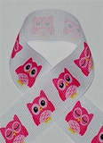 Sleepy Owl Printed Ribbon