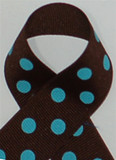 Brown/ with Turquoise Polka Dots Polka Dots