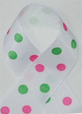 White Hot Pink and Apple Green Polka Dots
