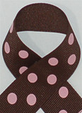 Brown with Pink Polka Dots