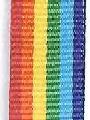 Rainbow Preppy Stripe Ribbon