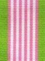 Pink Hawaiian Preppy Stripe Ribbon
