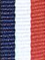 Navy/Red and White Preppy Stripe Ribbon