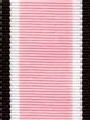 Pink and Brown Preppy Stripe Ribbon