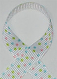 Sprinkle Dots Pastel Grosgrain Ribbon