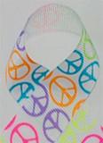 Neon Peace Grosgrain Ribbon