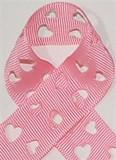 Pink Heart Cut Out Grosgrain Ribbon