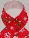 Reindeer Grosgrain Ribbon