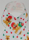Christmas Teddy Bears Printed Ribbon