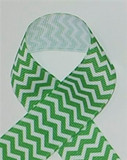 Apple Green Chevron Ribbon