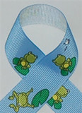 Frog Printed Ribbon