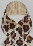 Natural Leopard Grosgrain Ribbon