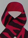 Shocking Pink Zebra Printed Ribbon. Great for hair bows, cheer bows,craft ribbon and more