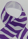 Purple Zebra Printed Ribbon. Great for hair bows, cheer bows,craft ribbon and more
