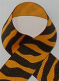 Yellow Gold Zebra Printed Ribbon. Great for hair bows, cheer bows,craft ribbon and more