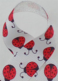 New Ladybugs Grosgrain Ribbon